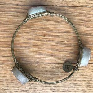Bourbon and Bowties Druzy Stone Bracelet